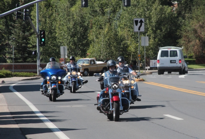 Flagstaff, bikers sur la Route 66