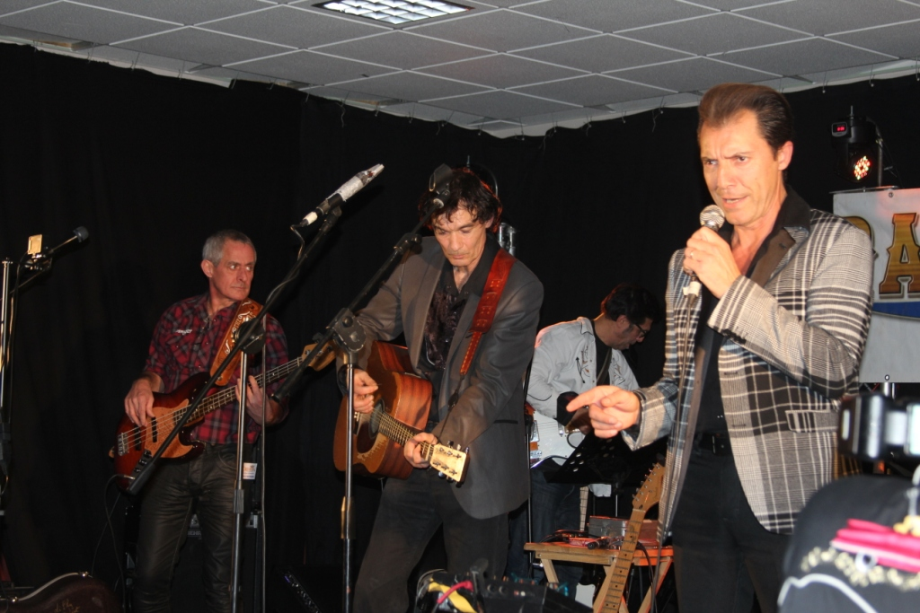 Eddy Ray Cooper, Pierre Lorry, Philippe Cléron (bassiste et manager du groupe The Partners)