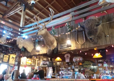A l'intérieur du Saloon de Goldfield