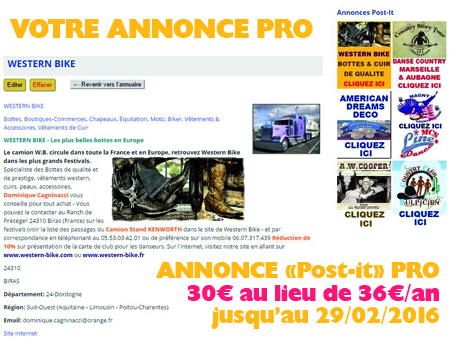 Annonce PRO Guide Country-France
