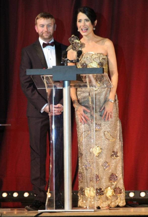 Présentation des Crystal Boot Awards avec Steve Healy