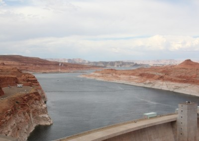 Le lac Powell vu du Vistor Center.