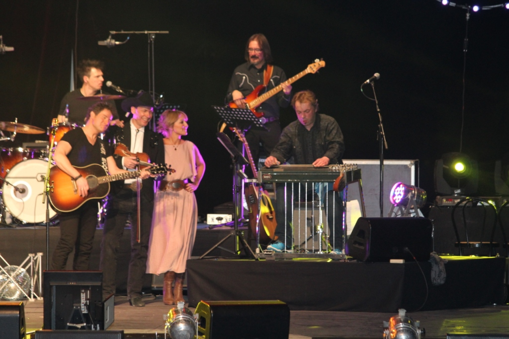 ShowTime Evry Mars 2015 - Les musiciens : John Permenter, Nadine Somers, Ian Scott, Jackson Mackay Backing Band