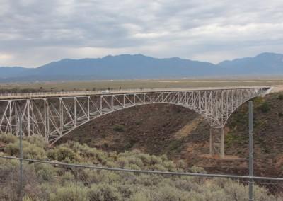 Le Rio Grande Bridge (à 195 m au-dessus du fleuve)