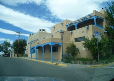 Le rue Kit Carson à Taos