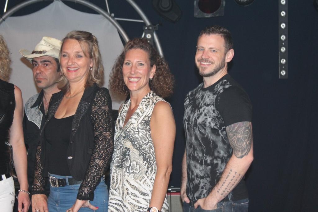 Les Chorégraphes Guylaine Bourdages, Kate Sala et Darren Bailey.