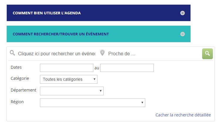 Agenda Country-France, Recherche Détaillée