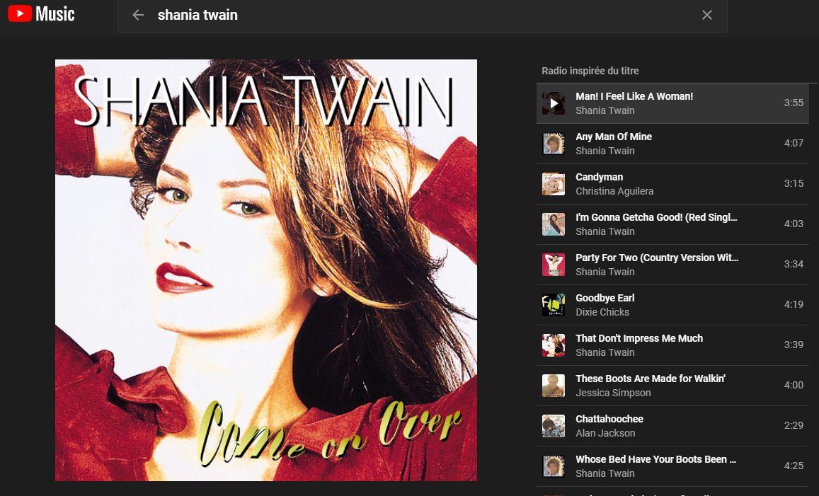 Youtubemusic - Shania Twain