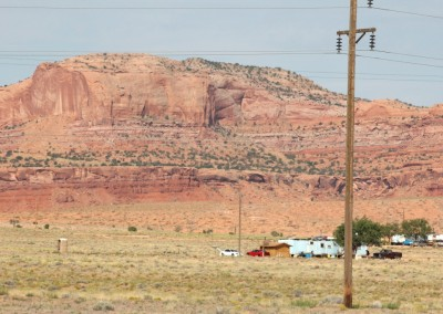 Campements Navajos aux alentours de Monument Valley