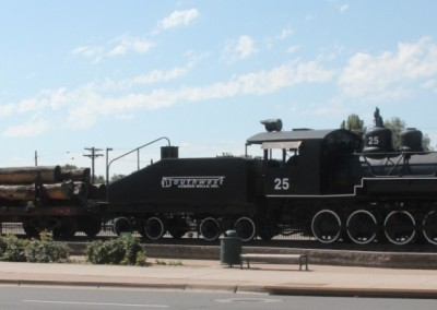 Flagstaff, locomotive en décor à la gare