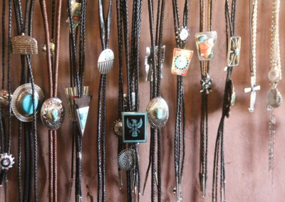 Hubbell Trading Post, Bolo Ties en argent