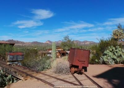 Les wagonnets qui transportaient le minerai