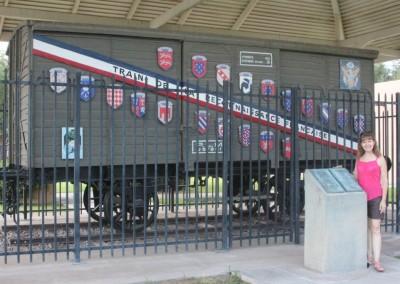 Le Musée des Trains de Scottsdale. Un wagon donné par la résistance Française.