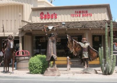 Décors dans le centre ville de Scottsdale.